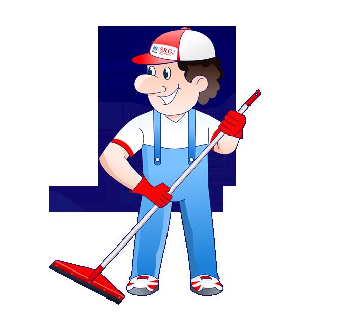 Gebäudereiniger vom Reinigungsunternehmen SRG GmbH