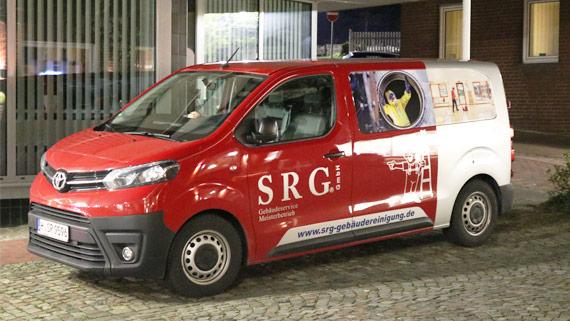 Fahrzeug vom SRG Gebäudereinigung / Reinigungsdienst